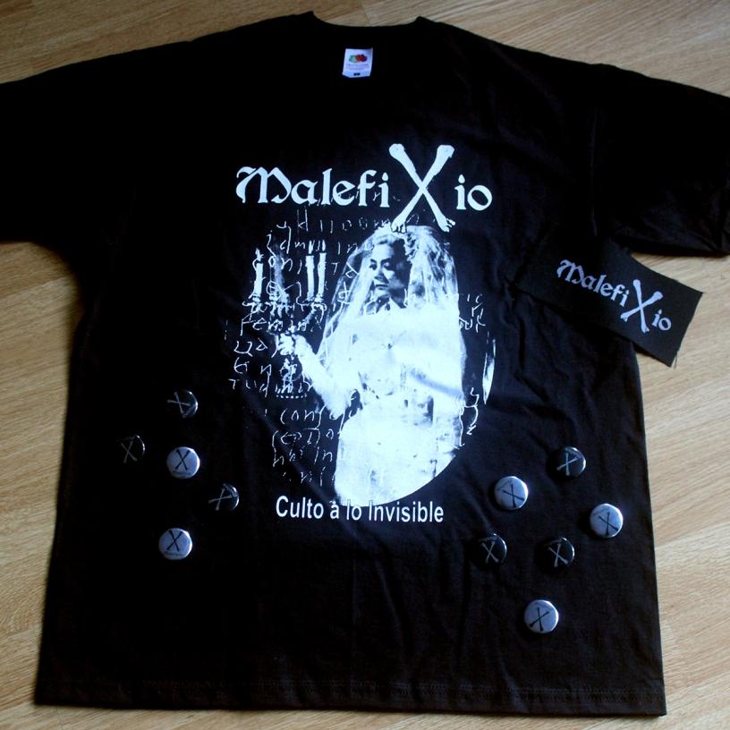 Malefixio Pack Camiseta Parche Chapa