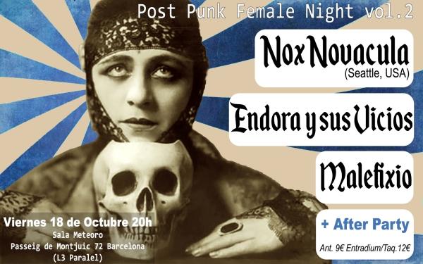 Post Punk Female Night vol2 nuevo flyer